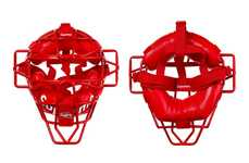Designer Catcher's Masks - Supreme Created a New Bright Red Catcher's Mask for Children