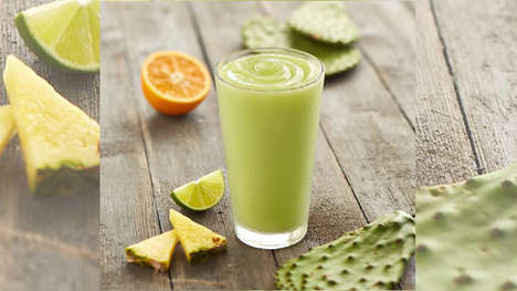 Sweet Cactus Smoothies - Tropical Smoothie Cafe's New Citrus Cactus Smoothie Taps the Power Cacti