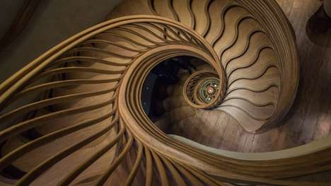 Otherworldly Timber Spiral Staircases