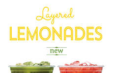Layered Lemonade Beverages