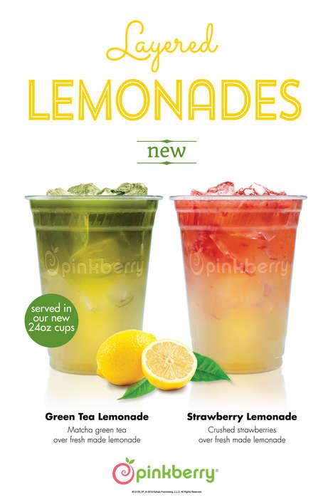 Layered Lemonade Beverages