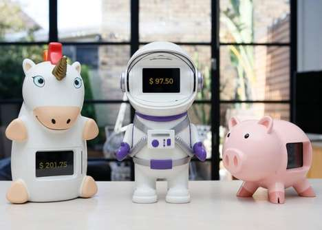 Connected Gamified Piggy Banks