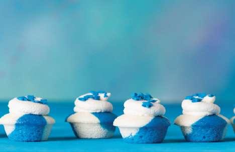 Charitable Tie-Dye Cupcakes