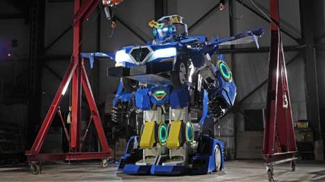 Robotic Transformer Cars - This Real-Life Transformer Can Be Rented For Events and Exhibitions