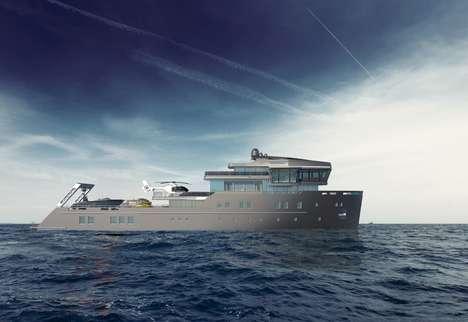 Ice-Faring Luxury Yachts