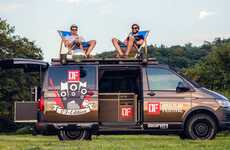 Flair-Filled Camper Vans - This Camper Van is Designed to Enhance Your Music Festival Experience