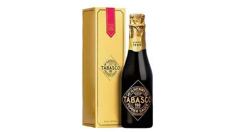 Champagne-Like Hot Sauce Bottles - Tabasco's Diamond Reserve Red Sauce Comes Elegantly Packaged