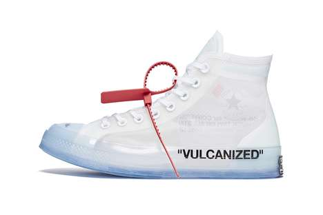 Translucent Designer Sneakers - Virgil Abloh Collaborates with Converse on a Clean Silhouette
