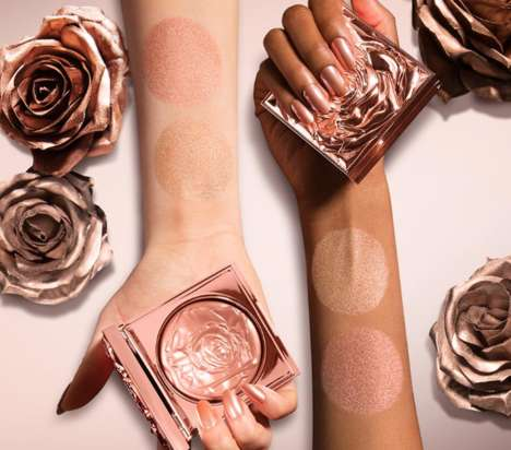Luxurious Rose-Imprinted Highlighters