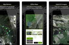 Outdoorsy Mapping Apps - This App Depicts Hiking Trails, Water Bodies and Private Properties