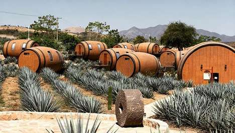 This Hotel Lets You Sleep in a Real Tequila Barrel on an Agave Farm
