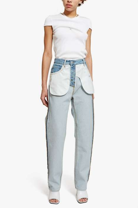 Deconstructed Denim Pants