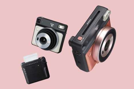 Compact Instant Cameras - Fujifilm Released Images of Its Fujifilm Instax Square SQ6