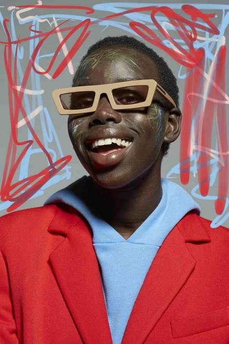 Bold Experimental Sunglasses
