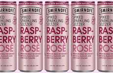 Rosy Millennial Libations - The Smirnoff Spiked Sparkling Seltzer Raspberry Rosé is Sugar-Free
