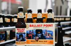 Vodka Cocktail-Inspired Beers - Ballast Point's Moscow Mule Beer is Brewed with Lime Zest & Ginger