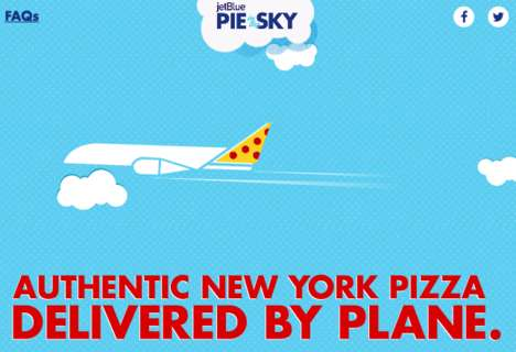 Cross-Country Pizza Deliveries - JetBlue's 'Pie in the Sky' Delivers Authentic NYC Pizza to LA