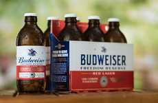 Patriotic American Lagers - The Freedom Red Reserve Lager is Based on a Recipe by George Washington