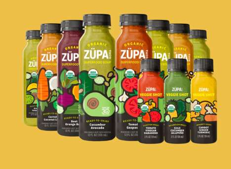 Bottled Soup Beverages - Zupa Noma Offers Convenient an Healthy Bottled Soup Alternatives