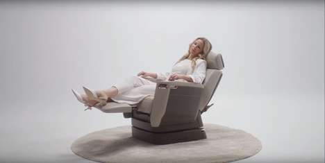 Ergonomic Private Aircraft Seats - The Bombardier 'Nuage Seat' Offers Flyers Total Comfort