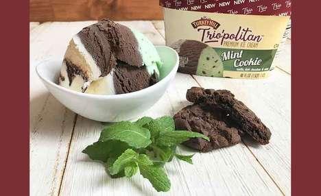 Triple-Flavor Ice Creams