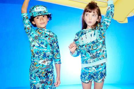 Vibrant Youth Swimwear - Kenzo Kids' New Animal Print Swimwear Line Offers Strong UV Protection