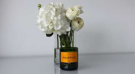 Recycled Champagne Candles