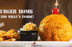 Cheese Puff-Coated Burgers - Applebee's is Selling a Deep-Fried Cheetos Burger Bomb in the UAE