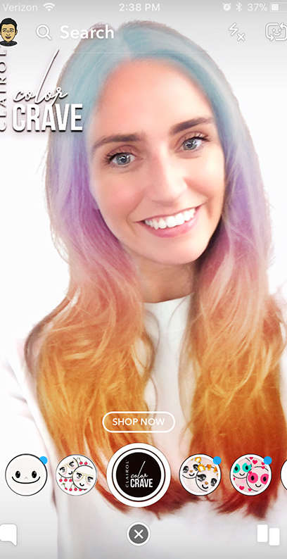 Color-Changing AR Hair Ads
