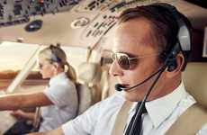 Noise-Canceling Aircraft Crew Headsets