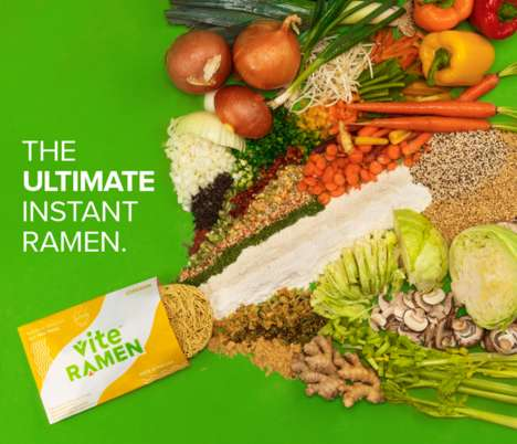 Nutritious Ramen Brands - Vite Ramen Offers this Savory Dish in a Healthier Form