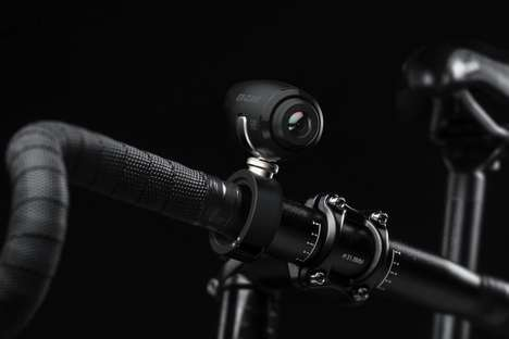 Aerodynamic Handlebar Action Cams - The 'EX' Action Cam is Designed Especially for Cyclists