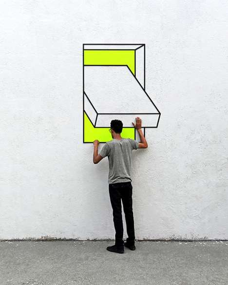 Vibrant Illusory Street Installations - Aakash Nihalani Stuns the Senses with Creative Perspectives
