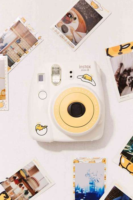 Egg Shell-Inspired Cameras - The Latest Fujifilm's Instax Mini 8 Features Gudetama the Lazy Egg