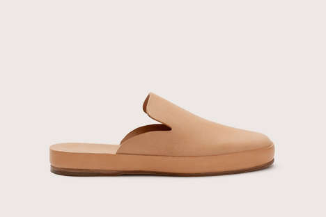 Natural Leather Mules
