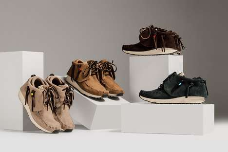 Vegetable Suede-Constructed Moccasins