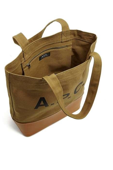 Fabric-Blocking Tote Bags