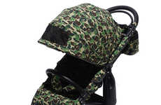 Camouflage-Patterned Baby Strollers - BAPE and AirBuggy Join Forces to Craft a Set of Baby Strollers