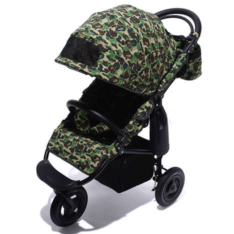 Camouflage-Patterned Baby Strollers