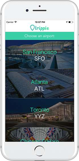 Interactive Airport Map Apps - The Trippie App Streamlines Users' Travel Experience