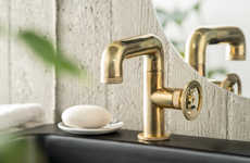 Utilitarian Faucet Designs - IB Rubinetti's Bold Faucet Collection is Contemporary and Luxurious
