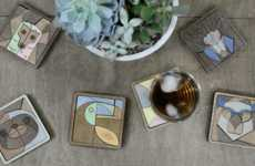 Wooden Jigsaw Puzzle Coasters
