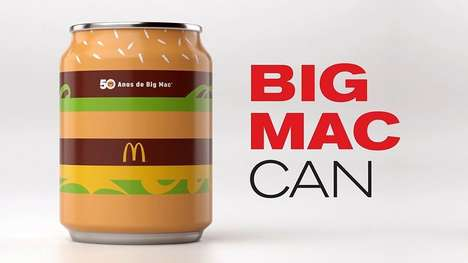 Burger-Inspired Soda Cans - DPZ&T Created an Anniversary Can for McDonald's Iconic Big Mac