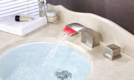 LED-Lit Wide-Spread Faucets