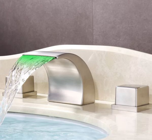 LED Lit Wide Spread Faucets : wide
