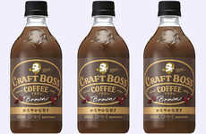 Lightly Refreshing Bottled Coffees - Suntory Craft Boss Brown Iced Coffee Has Less Sugar and Milk