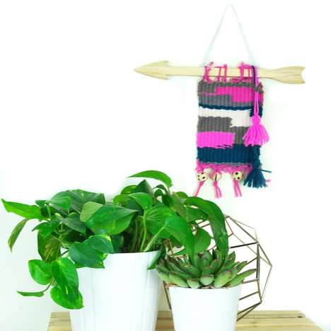 Children's Wall Weaving Kits - Seedling's Wall Tapestry Kit Features a Weaving Loom and Yarn