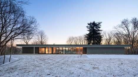 Slender Low-Lying Houses