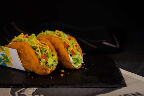 Fiery Chicken Shell Tacos