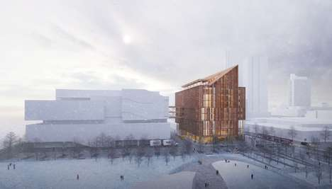Waterfront Timber Buildings - 'The Arbour' is a Winning Design Concept for Toronto's Waterfront